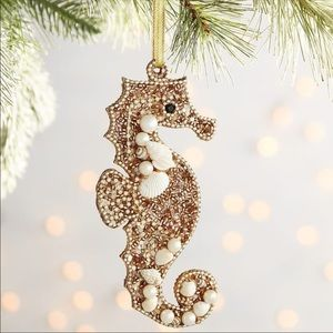 NWOT Pier 1 Beaded Seahorse Ornament